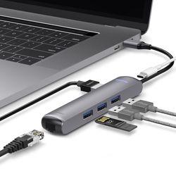 엘라고 6IN1 이더넷 HDMI USB-C타입 멀티허브