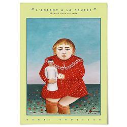 중형 패브릭 포스터 모던 디자인 그림 액자 앙리 루소 no.5
