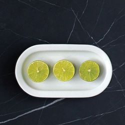 러브라믹스  에르고 화이트 도자기 계란형 플레이트 18cm