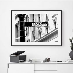 브로드웨이 뉴욕 액자 인테리어 A3 포스터