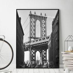 브루클린거리 뉴욕 액자 인테리어 A3 포스터