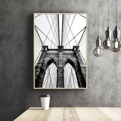 브루클린다리 뉴욕 액자 인테리어 A3 포스터