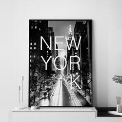 뉴욕 거리 액자 인테리어 A3 포스터