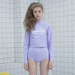 Original crop rash guard set-purple