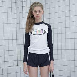 Rainbow logo rach guard set-white