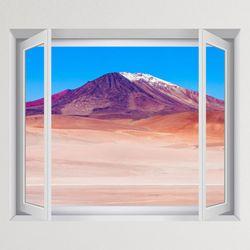 iy886-볼리비아사막의산창문그림액자(중형)