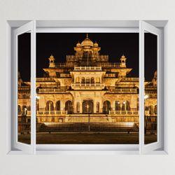 iy888-인도 자이푸르 알버트홀 박물관창문그림액자(중형)