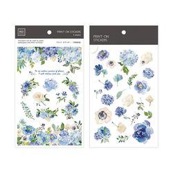 Miccudo 프린트-온 스티커 Ver.2  (6. Cheng Blue Rose)