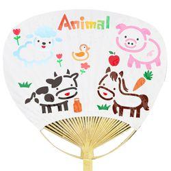 대나무부채 만들기 스텐실시트지 -동물(3인세트)