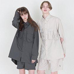 nylon 와샤 유틸리티 헌터 셔츠 베이지