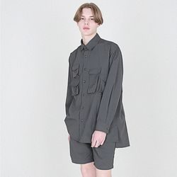 nylon 와샤 유틸리티 헌터 셔츠 챠콜