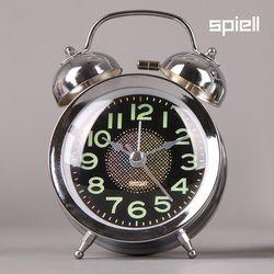 트윈벨 탁상시계 시끄러운알람시계(리틀실버)