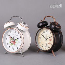 트윈벨 탁상시계 시끄러운알람시계(플라워)