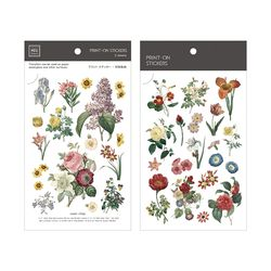 Miccudo 프린트-온 스티커 Ver.2  (10. Reissue Flower)