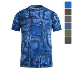패턴 냉감 반팔 티셔츠 STS024