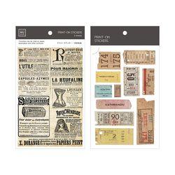 Miccudo 프린트-온 스티커 Ver.2  (11. Old Paper Roll)