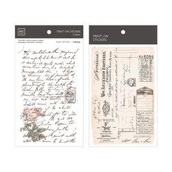 Miccudo 프린트-온 스티커 Ver.2  (13. Private Letters)