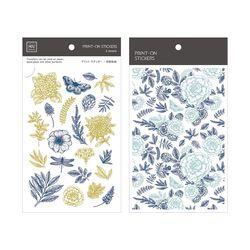 Miccudo 프린트-온 스티커 Ver.2  (15. Herbal Flowers)
