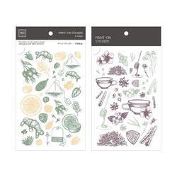 Miccudo 프린트-온 스티커 Ver.2 (16. Herbal Tea Set)