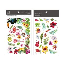 Miccudo 프린트-온 스티커 Ver.2  (17. Tropical Garden)