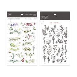 Miccudo 프린트-온 스티커 Ver.2 (18. Botanical Garden)