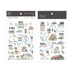 Miccudo 프린트-온 스티커 Ver.2  (21. Travel Map)