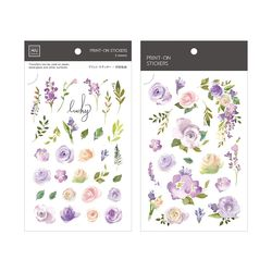 Miccudo 프린트-온 스티커 Ver.2  (24. Lilac Purple Rose)