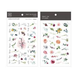 Miccudo 프린트-온 스티커 Ver.2  (25. Monthly Flowers)