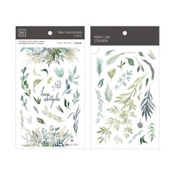 Miccudo 프린트-온 스티커 Ver.2  (26. Litchi Green Leaves)