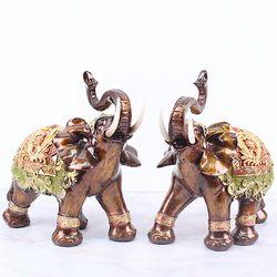 브라운 엔틱 코끼리장식품 BE02 대 2P SET 인테리어장식소품