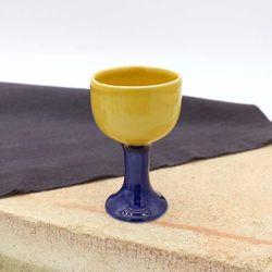 NEMO 달소금 특이한 도자기소주잔 투톤 손잡이 술잔-레몬