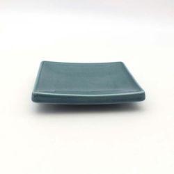NEMO 달소금 모던 도자기그릇 유광 사각 타일접시-피콕