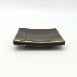 NEMO 달소금 모던 도자기그릇 유광 사각 타일접시-카키