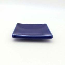 NEMO 달소금 모던 도자기그릇 유광 사각 타일접시-블루