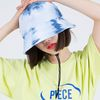 TIE-DYE STRING BUCKET HAT (NAVY)