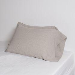 Premium Soft Touch Linen long Pillowcase. Natural. 60X80