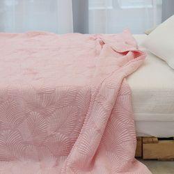 레이스누빔 풍기인견 삼중직 여름이불 겸 패드 핑크 - 싱글