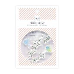 Miccudo 콜라주 클리어 스탬프 (6. Wind Dyed Flower)