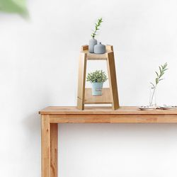 원목 화분 미니선반 진열대