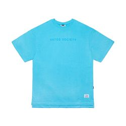V COLORS OVERSIZED T-SHIRTS BLUE