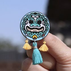 전통 영물 뱃지 소형 드림캐쳐