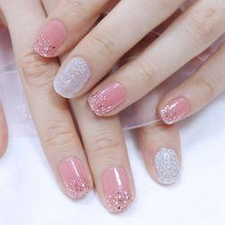 젤 네일 스티커 글리터 - 핑크라이트