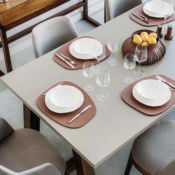 친환경 재생 가죽 테이블 매트 (2 디자인)(6 컬러)