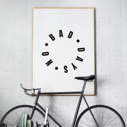 노배드데이즈 글귀 액자 레터링 A3 포스터