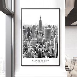 뉴욕 시티 인테리어 액자 A3 포스터