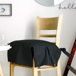 진 다크그레이 의자커버+솜 set