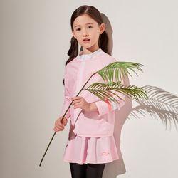 키즈 바이런(핑크) 9부 스커트레깅스 세트