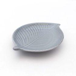 NEMO 달소금 핸드메이드 믹스 잎새 반찬접시-스카이그레이(유광)