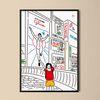 유니크 일본 디자인 인테리어 포스터 M 도톤보리3 A3(중형)