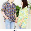 커플시밀러룩 파인애플 하와이안셔츠